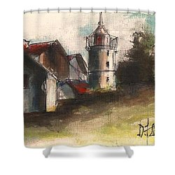 Lighthouse By Day Shower Curtain
