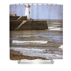 Lighthouse Shower Curtain by Amanda Elwell