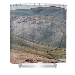 Lighthouse Shower Curtain by Davorin Mance