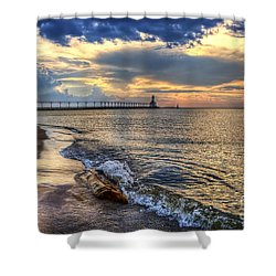 Lighthouse Drama Shower Curtain