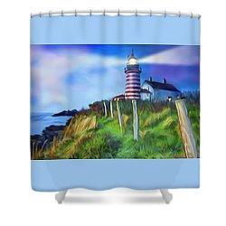 Lighthouse Shower Curtain by Gerry Robins
