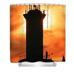 Shower Curtain featuring the photograph Lighthouse I by Bernardo Galmarini