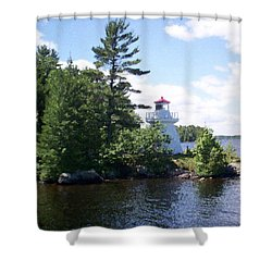 Lighthouse Island Shower Curtain