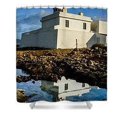 Lighthouse Shower Curtain by Marco Oliveira