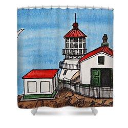 Lighthouse Shower Curtain by Masha Batkova