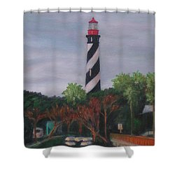 Lighthouse Morning Shower Curtain