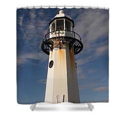 Lighthouse  Shower Curtain by Pixel  Chimp