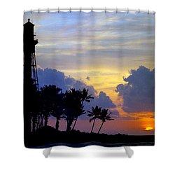 Lighthouse Point Sunrise 2 Shower Curtain