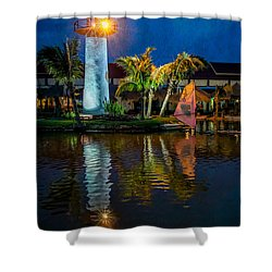 Lighthouse Reflection Shower Curtain by Adrian Evans