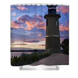 Shower Curtain featuring the photograph Lighthouse by Sonya Lang