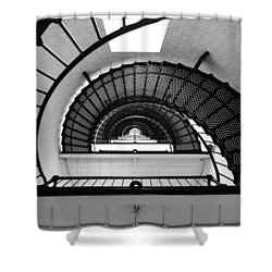 Lighthouse Spiral Shower Curtain by Beverly Stapleton