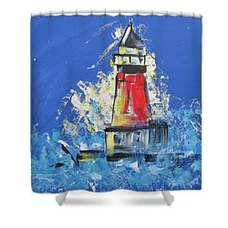 Lighthouse Splash Shower Curtain