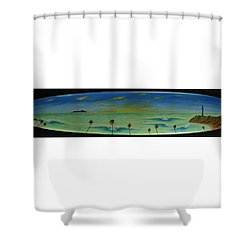 Lighthouse Surfers Cove Shower Curtain