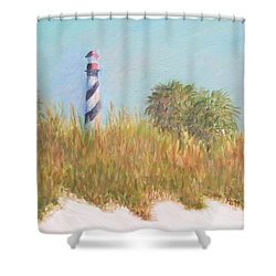 Lighthouse View From St. Augustine Beach Shower Curtain