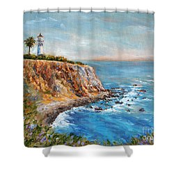 Lighthouse View Shower Curtain