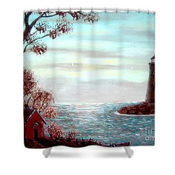 Lighthousekeepers Home Shower Curtain by Barbara Griffin