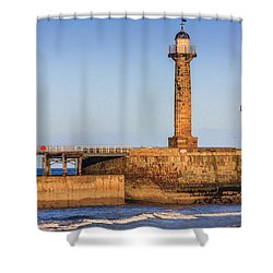 Lighthouses On The Piers Shower Curtain