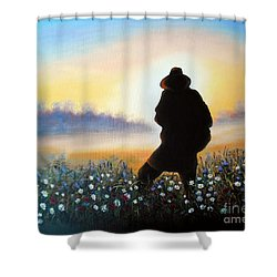 Shower Curtain featuring the painting Lighthunter by Vesna Martinjak