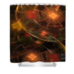 Lighting Decorations Shower Curtain by Klara Acel