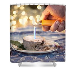 Lighting The Birthday Candle Shower Curtain by Juli Scalzi