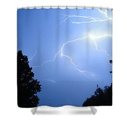 Lighting Up The Night Shower Curtain by Tiffany Erdman