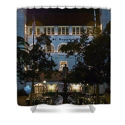 Lightner At Night Shower Curtain by Kenneth Albin