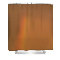 Shower Curtain featuring the photograph Lightning And Rainbow by Rob Graham