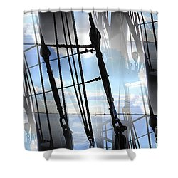 Lightning And Shadows Shower Curtain