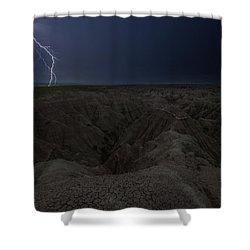 Lightning Crashes Shower Curtain