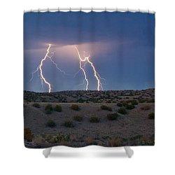Lightning Dance Over The New Mexico Desert Shower Curtain