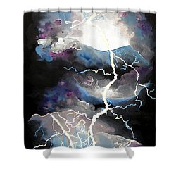 Shower Curtain featuring the painting Lightning by Daniel Janda