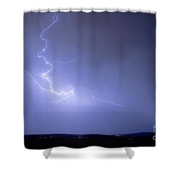 Lightning Goes Boom In The Middle Of The Night Shower Curtain by James BO  Insogna