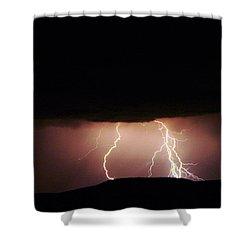 Lightning  Shower Curtain by Jeff Swan