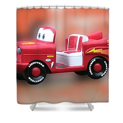 Lightning Mcqueen Shower Curtain by Thomas Woolworth