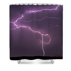 Shower Curtain featuring the photograph Lightning by Rob Graham
