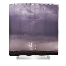 Shower Curtain featuring the photograph Lightning Storm by Rob Graham