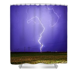 Lightning Strike Shower Curtain