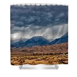 Lightning Strike Shower Curtain by Cat Connor