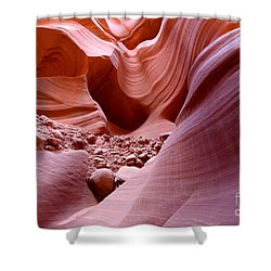 Shower Curtain featuring the photograph Lights And Rocks In The Canyon by Ruth Jolly