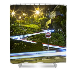 Lights On Lombard Shower Curtain