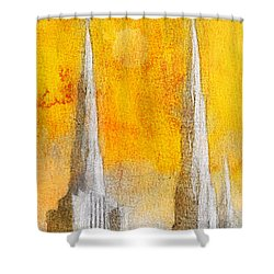 Shower Curtain featuring the painting Like A Fire Is Burning - Panoramic by Greg Collins
