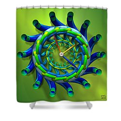 Shower Curtain featuring the digital art Like Clockwork by Manny Lorenzo