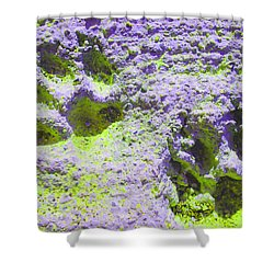Lilac And Green Pawprints Shower Curtain