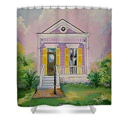Lilac Shotgun Shower Curtain