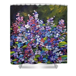 Lilac_burst_by_prankearts Shower Curtain by Richard T Pranke