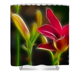 Lilies-6340-fractal Shower Curtain by Gary Gingrich Galleries