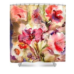 Lilies Shower Curtain by Neela Pushparaj