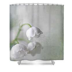 Lilies Of The Valley Shower Curtain by Annie Snel