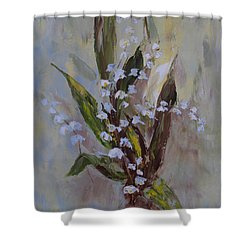Lilies-of-the-valley Shower Curtain