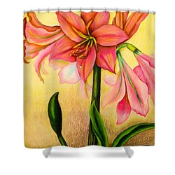 Lilies Shower Curtain by Zina Stromberg